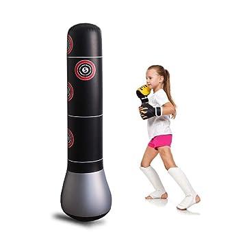 Columna de Boxeo Inflable de 1,6 m de Grosor, para Adultos y ...