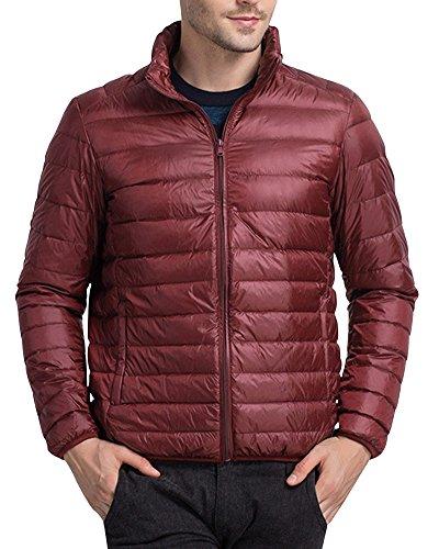 Giacca Piumini Corti Leggeri Sportive Cappotto Giubbotto Di Rosso Giacche Uomo Scuro Invernali 781q5xwqt
