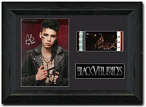 Andy Biersack BLACK VEIL BRIDES Framed 35 mm Film Cell Display Stunning Collectible signed s1 Prestige 252