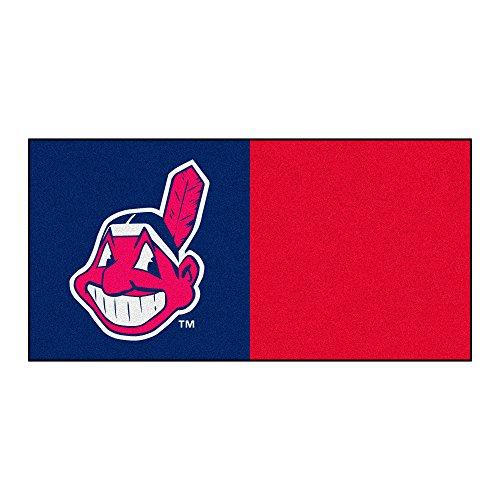 FANMATS MLB Cleveland Indians Nylon Face Team Carpet Tiles