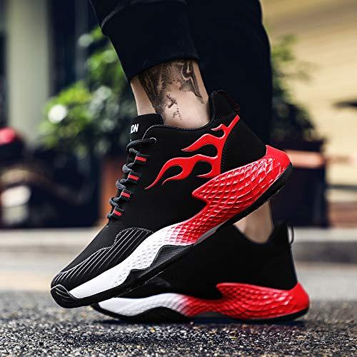 Plano Para Aire Deportivas Calientes De Resistentes Libre Desgaste Rojo Hombre Deporte Ligeras Fondo Al Zapatillas IqRgSS