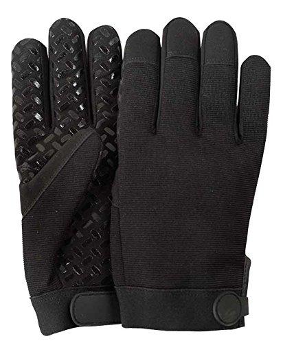 Illinois Glove Company 81LB Super Grip Mechanics Gloves, L, Black (Glove Work Impregnated)