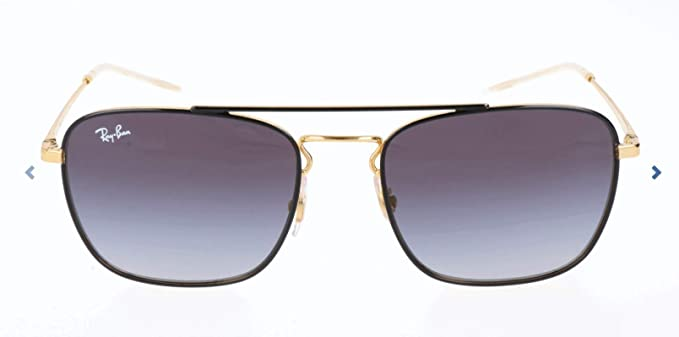 RAY-BAN 0Rb3588 Gafas de sol, Gold on Top Black, 55 para Hombre