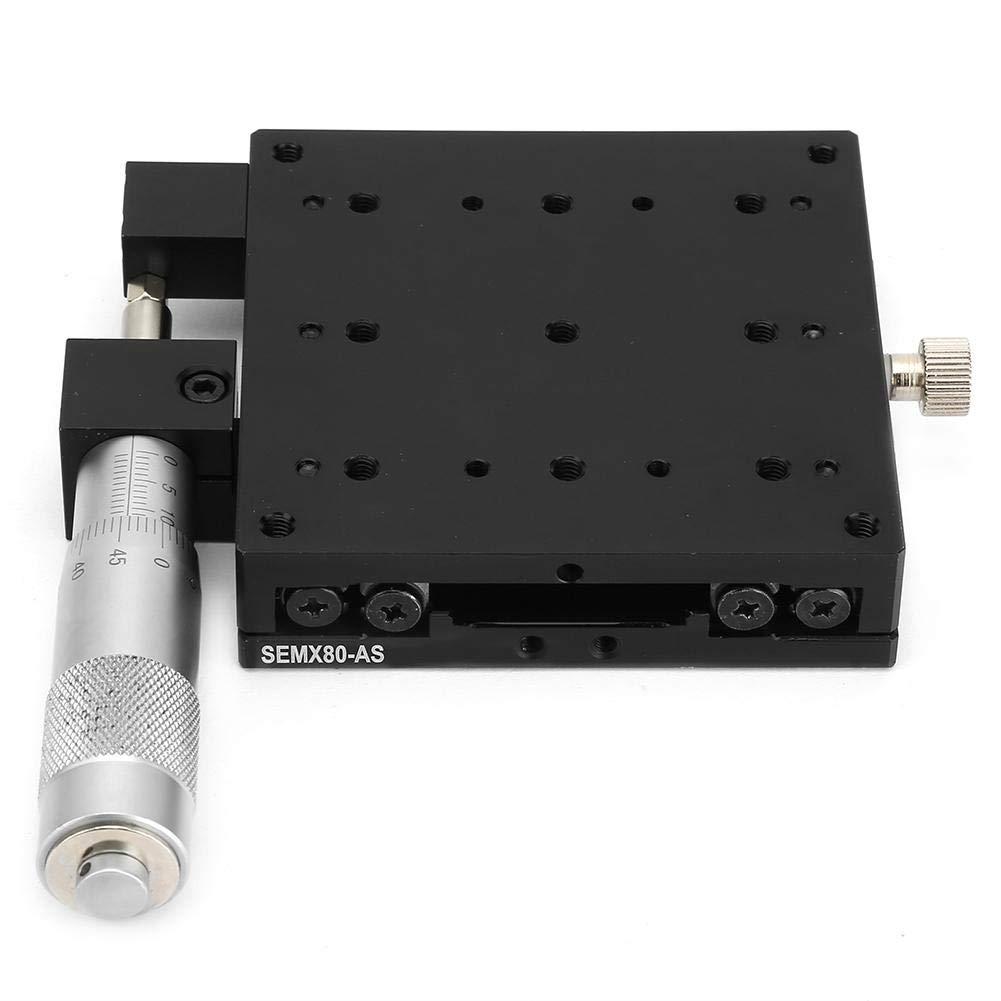 X etapa lineal Tabla de deslizamiento de cojinete de recorte Tama/ño de la plataforma 80x80mm Keenso SEMX80-AS Micrometer Etapa de traducci/ón lineal de precisi/ón manual X Axis