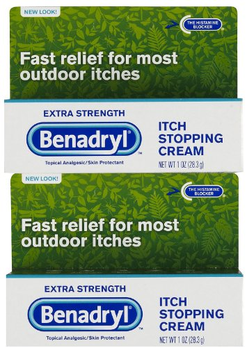Stopping Cream Itch (Benadryl Itch Stopping Cream, Extra Strength, 2 pk)