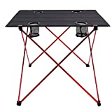 Eight24hours Folding Aluminum Camping Picnic Table Dining Equipment Outdoor Gear + FREE E-Book