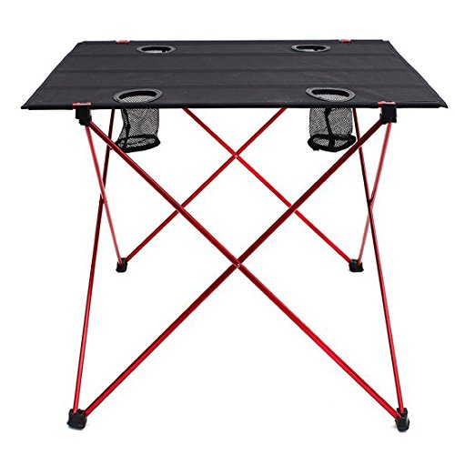 Eight24hours Folding Aluminum Camping Picnic Table Dining Equipment Outdoor Gear + FREE E-Book by Eight24hours