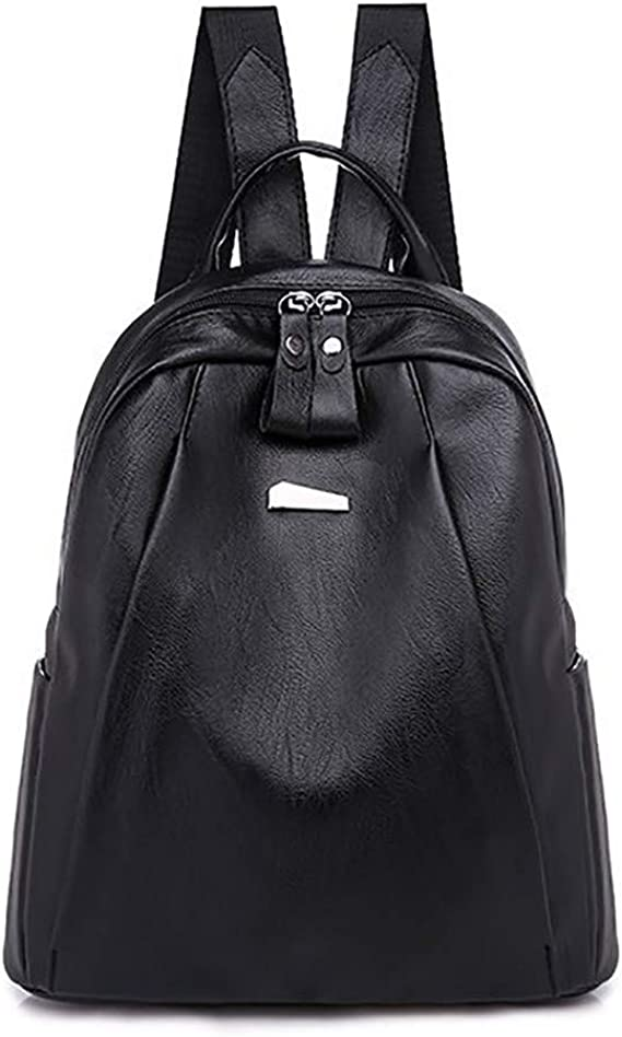 Anti-Theft Dual-use Cowhide Fashion Wild Street Fashion Leather Soft Ladies Backpack Backpack Leisure Bag Travel Bag Crossbody Bag 311532cm ZHML Black Pink
