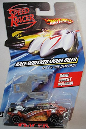 Hot Wheels Speed Racer Race-Wrecked Snake Oiler Race Car with Spear Hooks Die-Cast Car ()