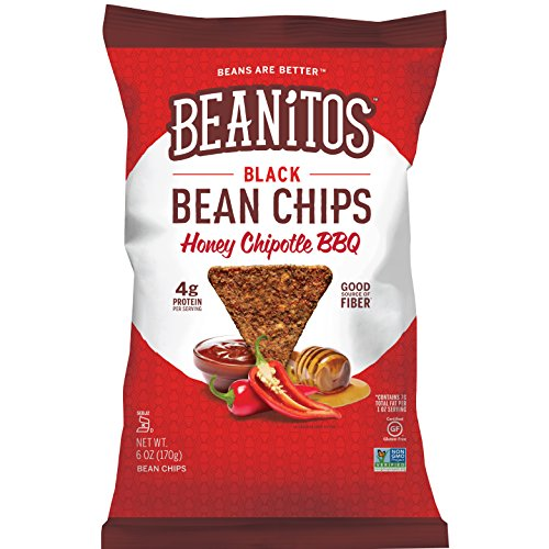 Beanitos Black Bean Honey Chipotle BBQ, The Healthy, High Protein, Gluten free, and Low Carb Vegan Tortilla Chip Snack, 1.2 Ounce (Pack of 24)