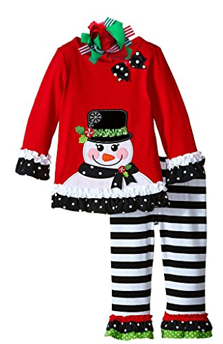 Boutique Clothing Girls Christmas Outfit Snowman Clothing Set 6 Years Bow