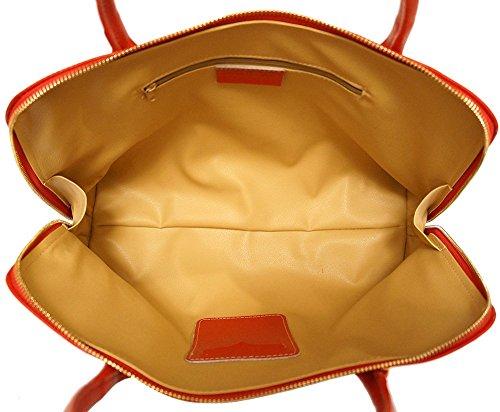 Leather Florence Saffiano Rouge Sac Foncé Market Femme Cartable 308 Business Pour En Cuir dHrHqw