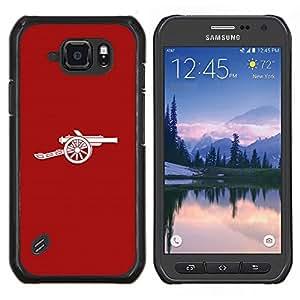 """Be-Star Único Patrón Plástico Duro Fundas Cover Cubre Hard Case Cover Para Samsung Galaxy S6 active / SM-G890 (NOT S6) ( Minimalista Cañón"""" )"""
