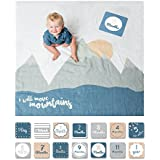lulujo Baby First Year Milestone Blanket and Cards Set...