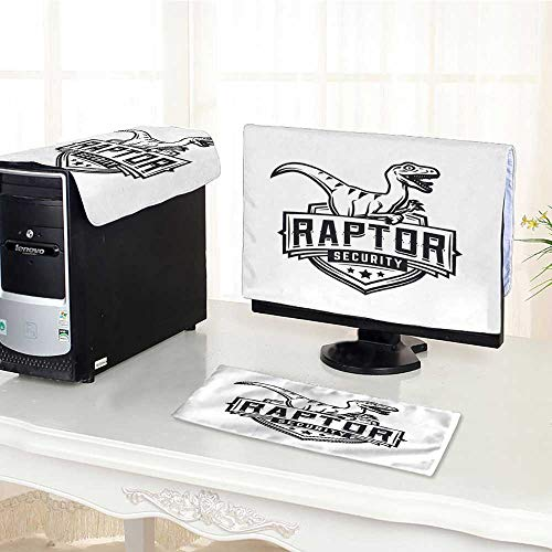 Team Mascot Button - UHOO2018 Computer Keyboard Dust Cover 3 Pieces Raptor Sport Logo Mascot Design Vintage College Team Coat dust Cover Computer case /25