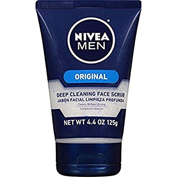 NIVEA FOR MEN Energy, Face Scrub 4.4 oz Unique Bargains Makeup Tool Blue Plastic Facial Mask Bowl Stick Beauty Tool 2 in 1 Set