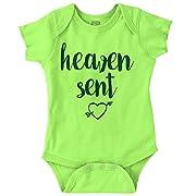 Brisco Brands Heaven Sent Christian Shirt Cool Baby Clothes Funny Gift Idea Romper Bodysuit