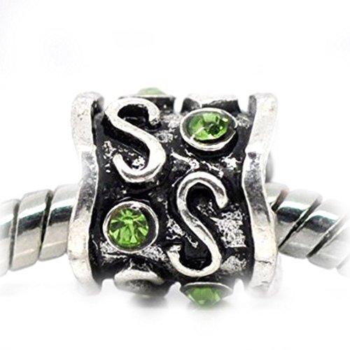 Sexy paillettes Femme Vert strass naissance pour bracelets chaîne serpent européenne Charme