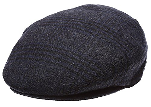 Men's Premium Wool Blend Classic Flat Ivy Newsboy Collection Hat ,2363-Navy, X-Large