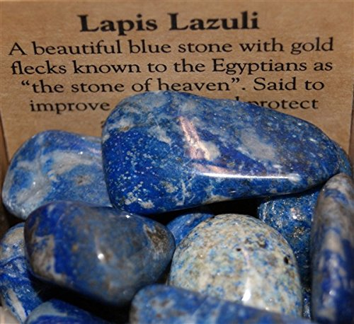 Blue Lapis Lazuli Quality Tumblestones 20-30mm x 6 by Gifts and Guidance