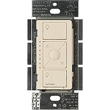 Lutron Caseta Wireless Smart Lighting Dimmer Switch for ELV+ Light Bulbs, PD-5NE-BL, Light Almond,Works with Alexa, Apple HomeKit, and the Google Assistant