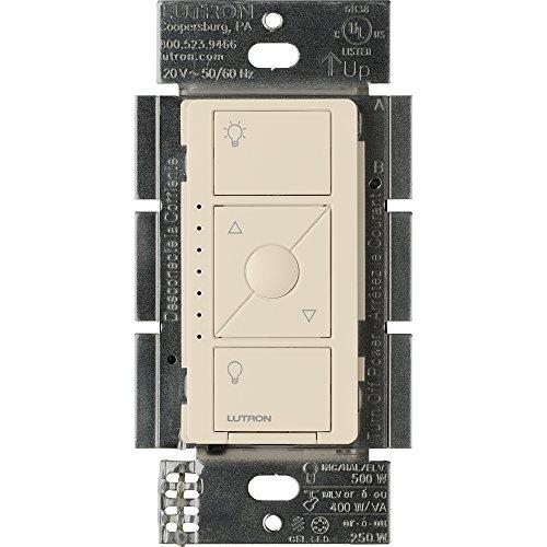 Lutron PD-5NE-LA ELV Caseta Wireless Electronic Low Voltage In-Wall Dimmer, 1 pack, Light Almond
