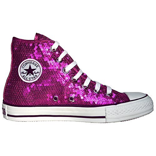 CONVERSE ALL STAR CHUCKS LIMITED EDITION Sequins Pailletten Magenta Pink Größe: 36,5 UK 4