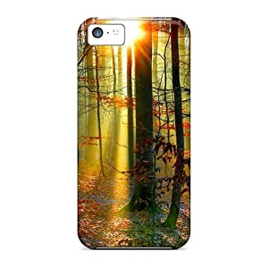 Snap-on Case Designed For Iphone 5c- Forest Glow
