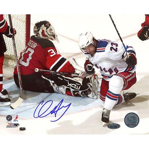 - NHL New York Rangers Chris Drury Celebrating Goal vs. Devils Photograph, 16x20-Inch