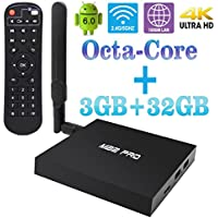 Android PC Smart TV Box, MB2 PRO Android Mini PC Media Player Amlogic S912 Octa-Core 3GB/32GB True 4K HDR Ultra-HD H265 VP9 Ethernet WiFi SPDIF 4K Playing Android Tv Box with IR Remote Control Black