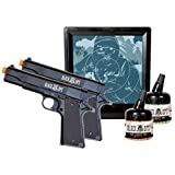 Black Ops 1911 Tactical Combat Kit 2 Pack Spring Action Airsoft Pistols with Ammo and Gel Target