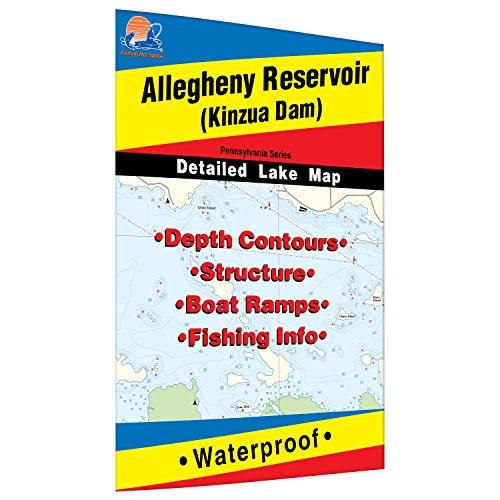 Allegheny Reservoir (Kinzua - PA/NY) Fishing Map