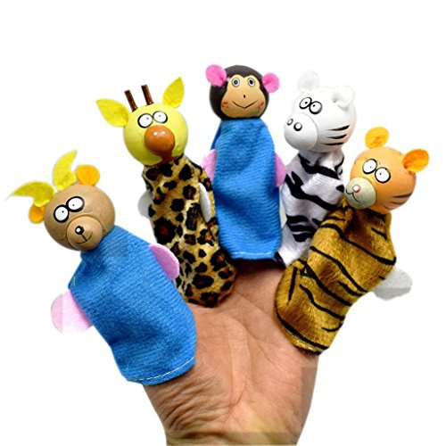 5 Pcs Cartoon Animal Hand Puppets,Pausseo New Kids Educational Toys Children Doll