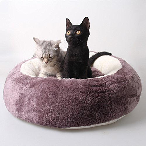 Purple Removable Cat Litter, Round Pet Nest Cat House Mat (color   Purple)
