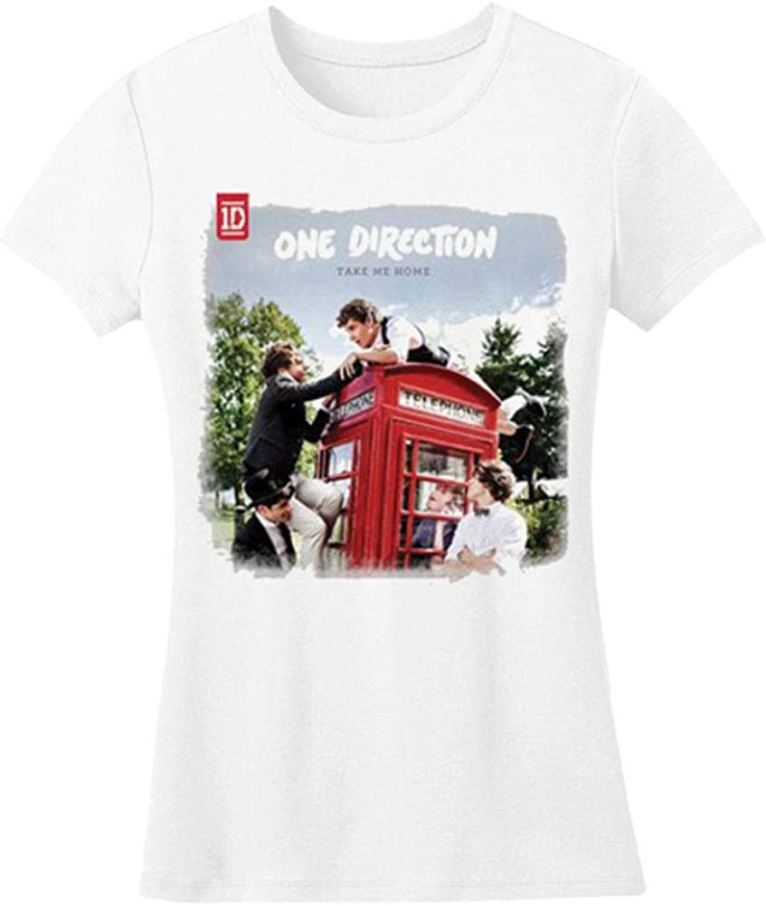 One Direction Take Me Home Rough Edges Junior Top White