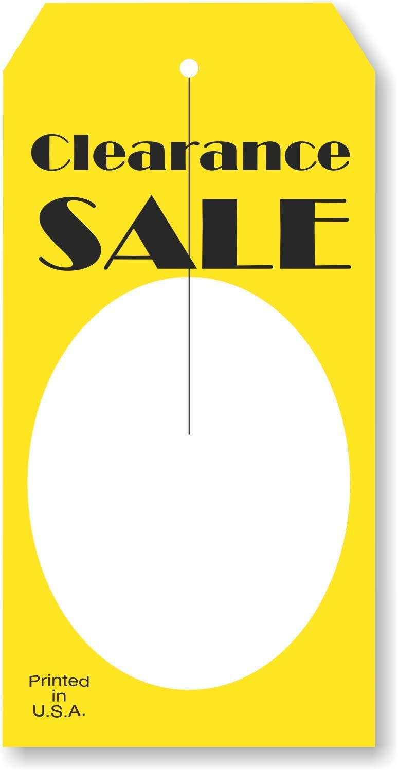 """""""Clearance Sale"""" Price Tag with Slit 