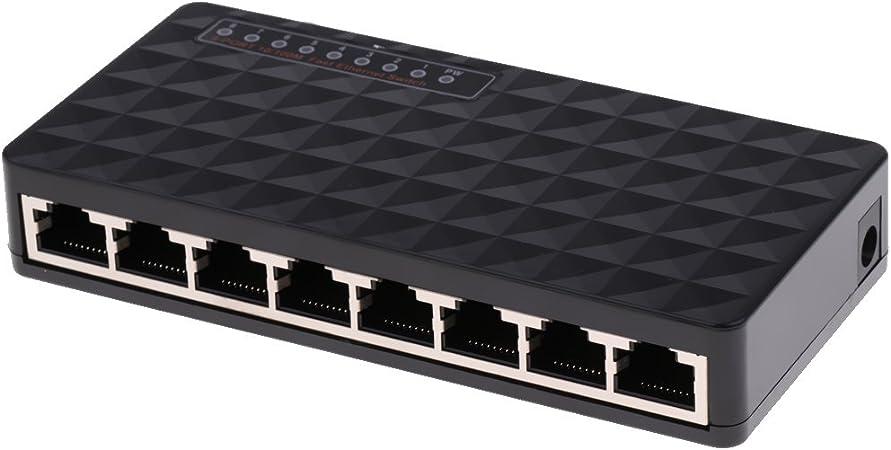 MagiDeal Hub Rete Switch Commutazione Ethernet 8 Mini Porte velocit/à 10//100 Mbps per WiFi