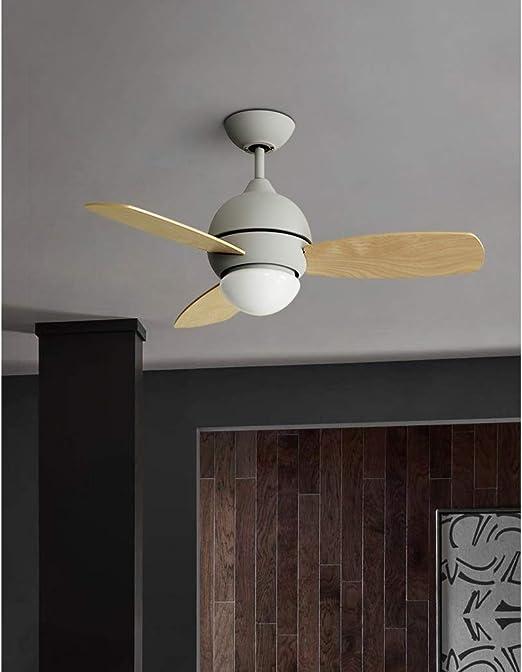 Ventilador de techo de altura ajustable con luz y control remoto ...