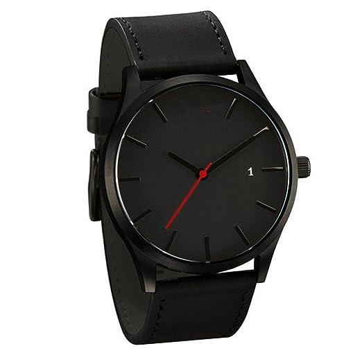 Relojes Hombre,❤LMMVP❤Pareja de moda de la banda de cuero analógico cuarzo Ronda muñeca hombres de negocios reloj (C): Amazon.es: Relojes