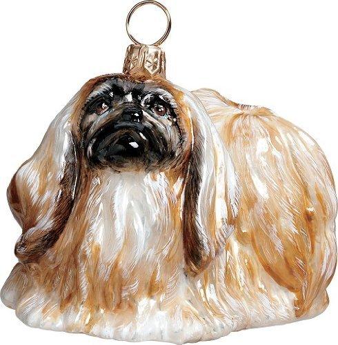Pekingese-Dog-Polish-Blown-Glass-Christmas-Ornament