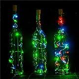 Recycle Wine Bottle Lights Battery Powered , 6 Pack , 15LEDS ,DIY Empty Liquor Lamps , Christmas LED String Décor Lights , Bottle Lamp Kit, RGB, EIISON