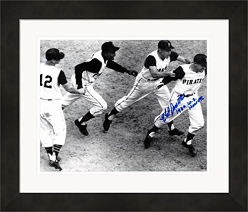 Hal Smith autographed 8x10 photo framed (Pittsburgh Pirates 1960 World Series game 7 tying home run celebration) Image #1 inscribed