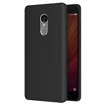 AICEK Funda Xiaomi Redmi Note 4, Negro Silicona Fundas para Xiaomi Redmi Note 4 Carcasa Negro Silicona Funda Case