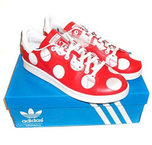 Adidas Originals Pw Stan Smith Bpd Mens Utbildare Gymnastikskor Röd / Röd / Ftwwht B25399