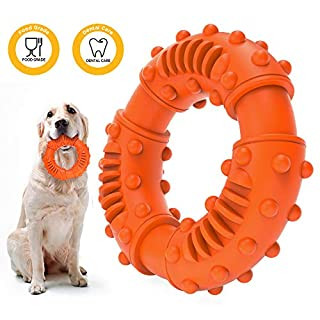 ABTOR Ultra Durable Dog Chew Toy for Aggressive Chewers Large Breed - Toughest Natural Rubber - Interactive Dog Toys for Large Dogs Puppy ¨C Fun to Chew, Teething, Reduce Boredom