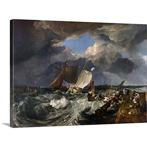 (Gallery-Wrapped Canvas Entitled Calais Pier: an English Packet Arriving, 1803 by Joseph Mallord William Turner 48