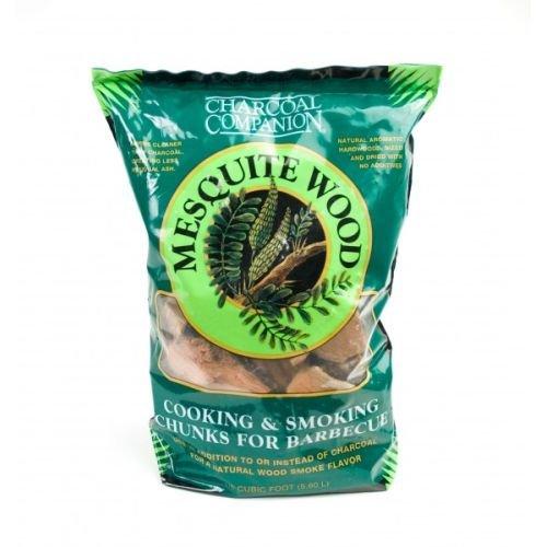 Charcoal Companion Mesquite Cooking and Smoking Wood Chunks, 6-Pound Bag
