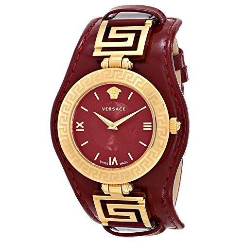 Versace Womens Vla030014 V Signature Analog Display Swiss Quartz Red Watch