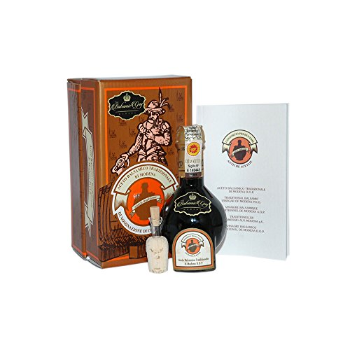 Aceto Balsamico Tradizionale di Modena DOP Extra Vecchio from The Consortium of Traditional Balsamic Vinegar Producers in Modena. Certified Aged 25 years. Great Gift for the Holidays. On Sale now. by The Balsamic Guy (Image #1)