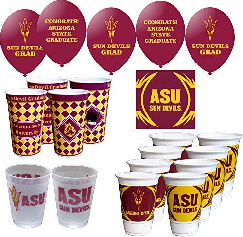 Westrick Arizona State Sun Devils Graduation Party Supplies 69 Pieces